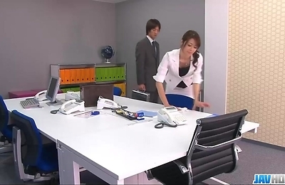 beautiful, fucked, hardcore action, lingerie, maki, office,