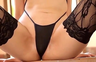 sexy stockings, softcore, stockings, swimsuit,