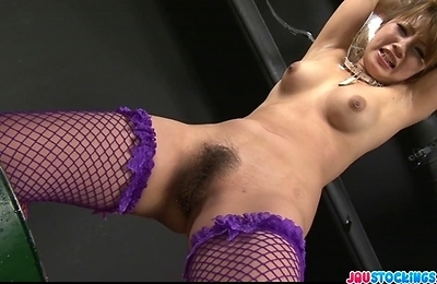 fishnet stockings, kinky, masturbation, sex, sex toys, squirting, stockings,